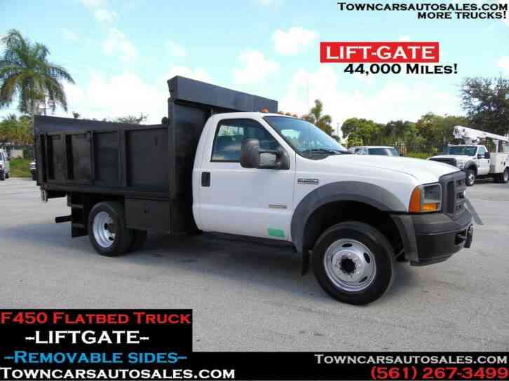 Ford F450 Stake Truck FLATBED w/Liftgate (2005)