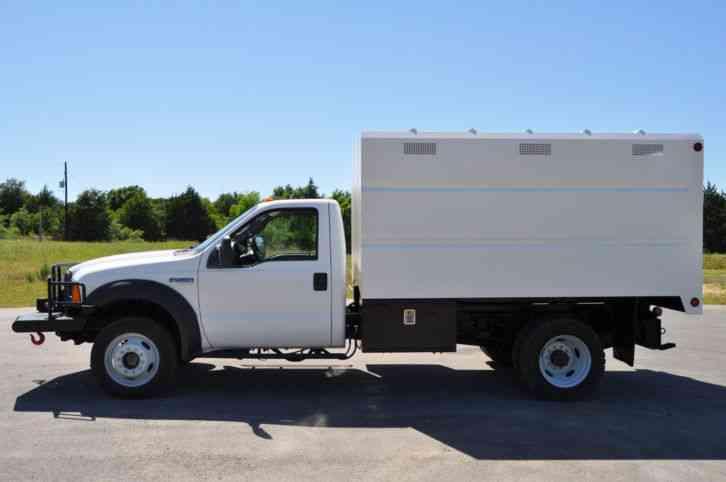 1 Ton Chipper Box Body : Ford f bucket boom trucks