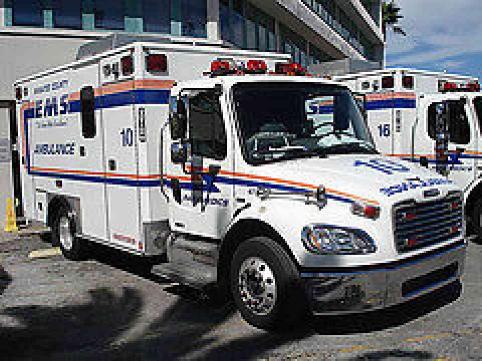Freightliner M Rescue Vehicle Ambulance on Mercedes Mbe 900 Engine