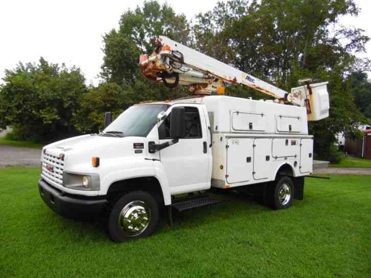 GMC C5500 ALTEC 42FT PLACER BUCKET SERVICE BOOM TRUCK (2005)