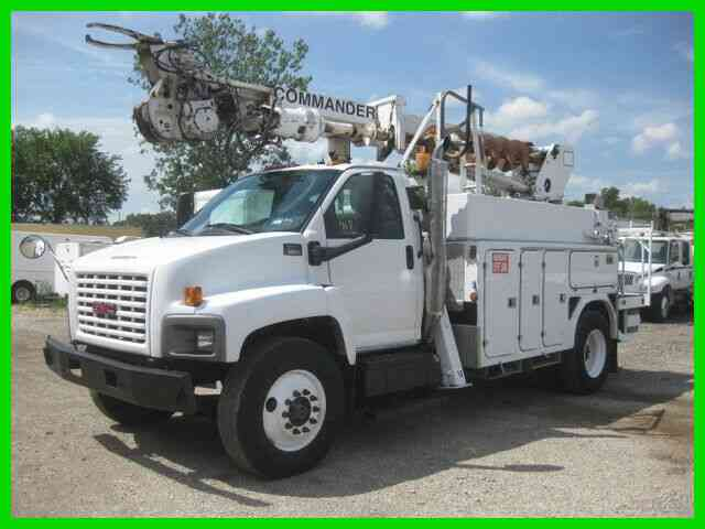 GMC C8500 C7 CAT ALLISON AC WITH TEREX TELELECT 45 FOOT REACH DIGGER DERRICK (2005)