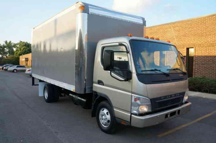Mitsubishi fuso fe145 box cube truck clean auto 16ft box for 16 box auto
