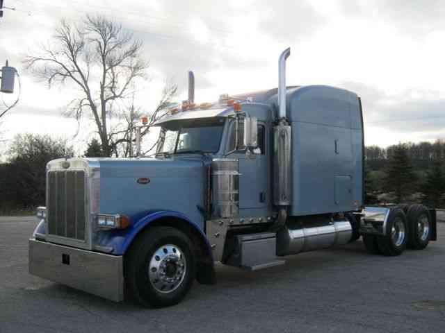 Semi Truck Hoods : Peterbilt  sleeper semi trucks
