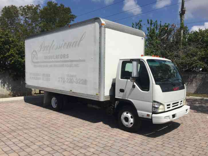 similiar 2006 gmc w3500 keywords 2006 gmc w3500 4x2 isuzu npr tilt cab box truck 18 box diesel