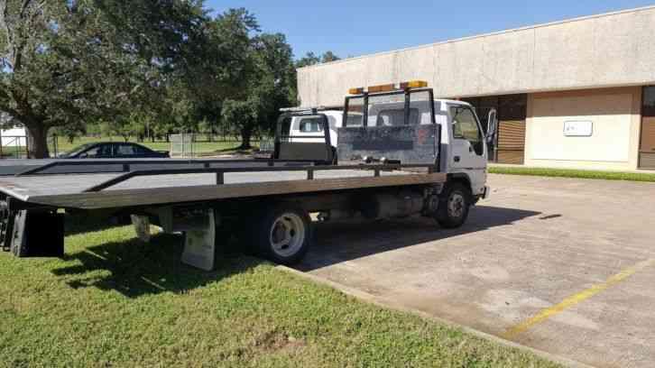Isuzu Npr Hd Diesel Rollback Flatbed Tow Truck on Isuzu Truck Npr Diesel Engine