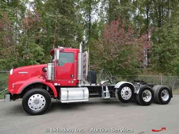 With Drop Axle Semi : Kenworth t heavy duty trucks