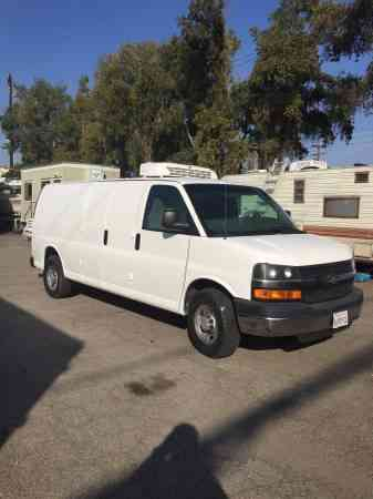 Chevy Express 3500 Refrigerated Cargo Van Gas Thermoking V300 2007