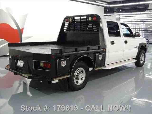 chevrolet silverado 2500 hd crew 4x4 diesel flatbed tow. Black Bedroom Furniture Sets. Home Design Ideas