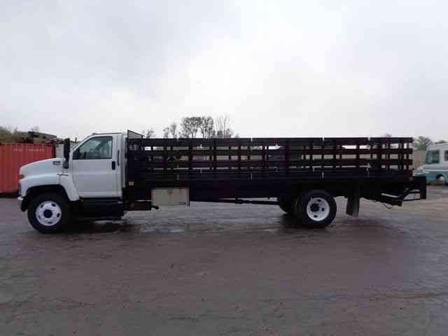Gmc 6500 24 Stake Body Flatbed Truck 2007 Van Box
