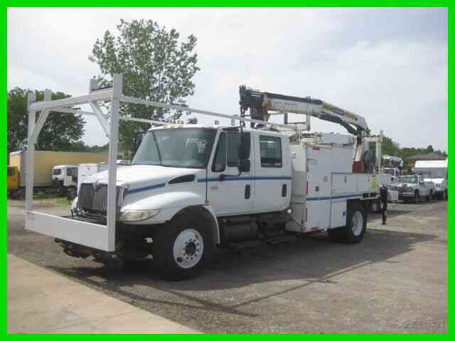 INTERNATIONAL 4300 DT466 SPEED WITH PALFINGER CRA (2007)