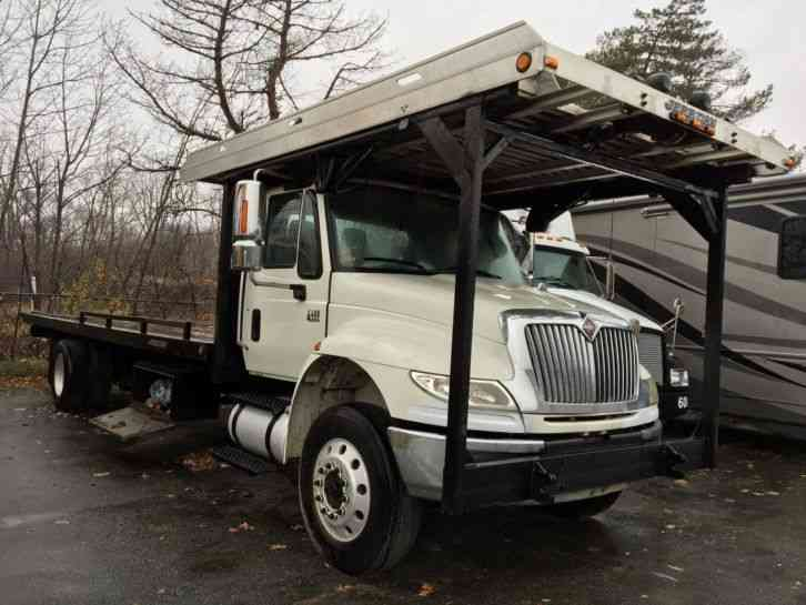International Dt Car Carrier Rollback Flatbed Tow Truck on 1997 Dodge Single Cab