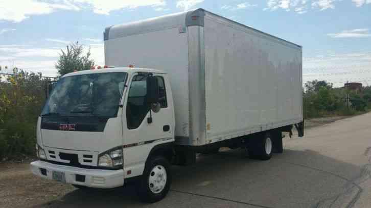 Isuzu Npr Gmc W Box Truck Auto Low Miles Ft Box Liftgate Diesel on Isuzu Npr Box Truck