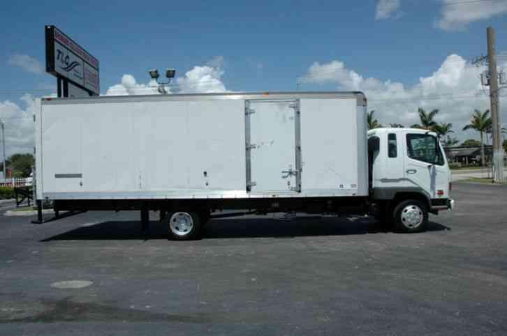 Mitsubishi Fuso Fk200 24ft Box Truck Side Door 2007 Van Box Trucks