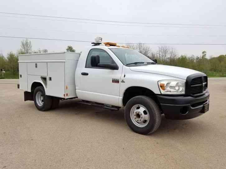 dodge 3500 hd 4x4 2008 utility service trucks. Black Bedroom Furniture Sets. Home Design Ideas