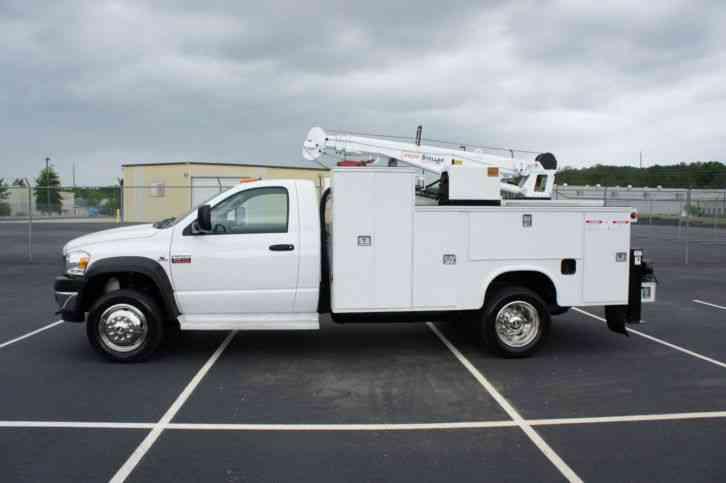 Dodge Ram Mechanics Truck Crane Service Utility Compressor Diesel on Dodge Ram 5500