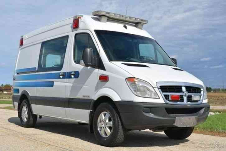 dodge sprinter van 2500 2008 emergency fire trucks. Black Bedroom Furniture Sets. Home Design Ideas