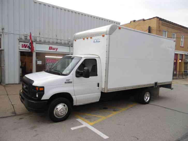 ford e 350 super duty delivery van 16 foot box truck 2008. Black Bedroom Furniture Sets. Home Design Ideas