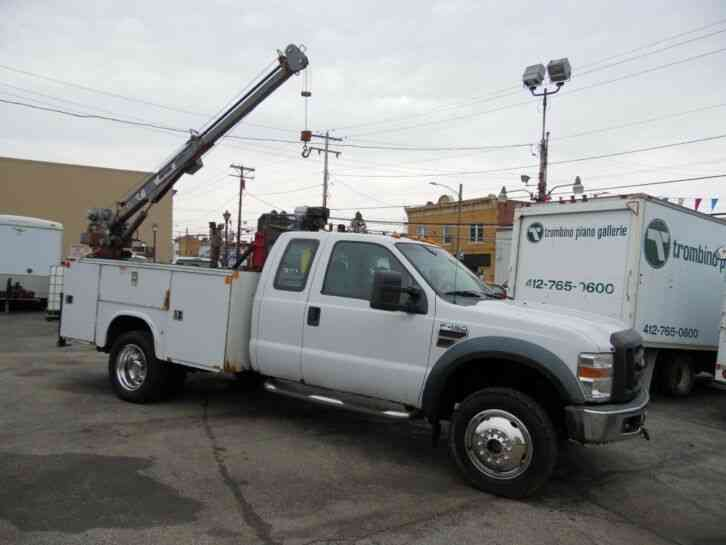 Ford F-450 MECHANIC SERVICE BED CRANE UTILITY TRUCK 4X4 (2008)