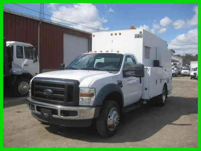 FORD F550 6. 4L POWER STROKE DIESEL AUTO WITH 11 SERVICE BODY, AIR COMPRESOR AND GENERATOR (2008)