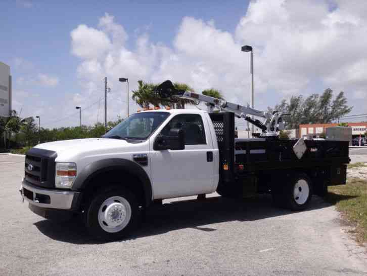 ford f550 crane service body 2008 bucket boom trucks. Black Bedroom Furniture Sets. Home Design Ideas
