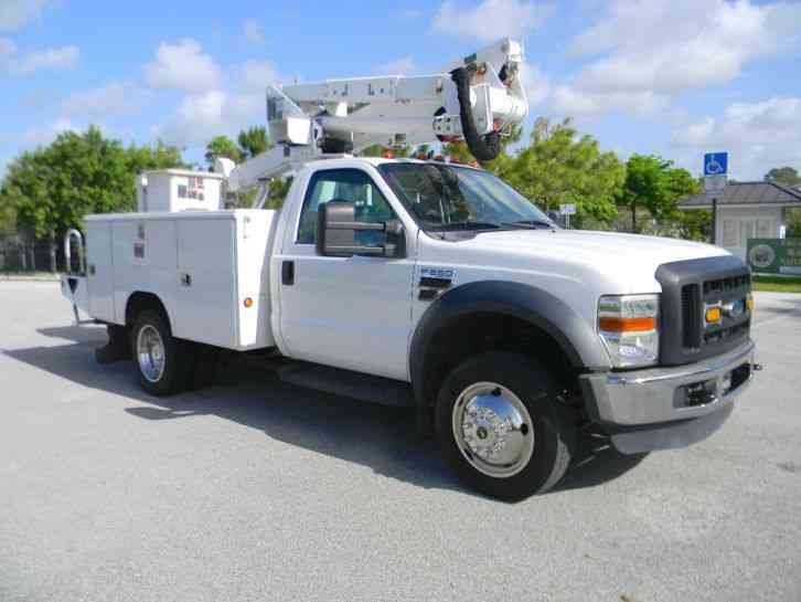ford f550 super duty 2008 bucket boom trucks. Black Bedroom Furniture Sets. Home Design Ideas