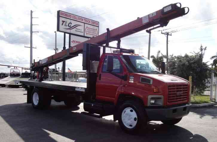 GMC C6500 20FT FLATBED . . . 25' Cleasby HDRTH-6000 Roofing Conveyor (2008)