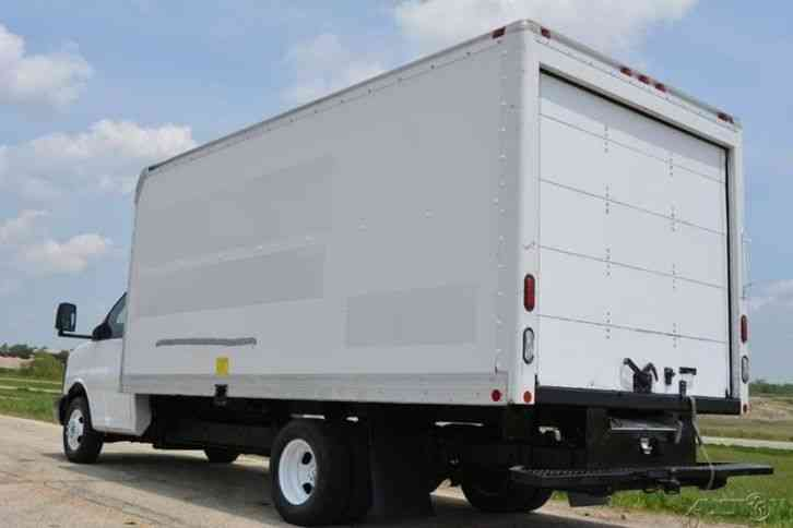 gmc g3500 16ft box truck w new lift 2008 van box trucks. Black Bedroom Furniture Sets. Home Design Ideas