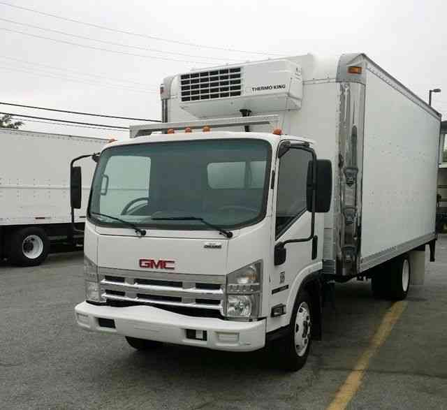 Refrigerated Truck Vehicle : Isuzu nqr gmc w ft refrigerated box truck liftgate