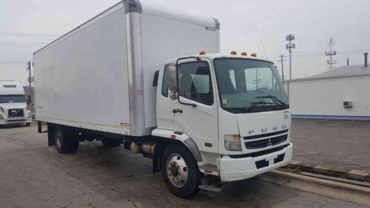 Hino UD Mitsubishi Fuso Moving Delivery Freight FK260 Cabover 26ft Under CDL 26ft Box Very Clean Box Truck (2008)