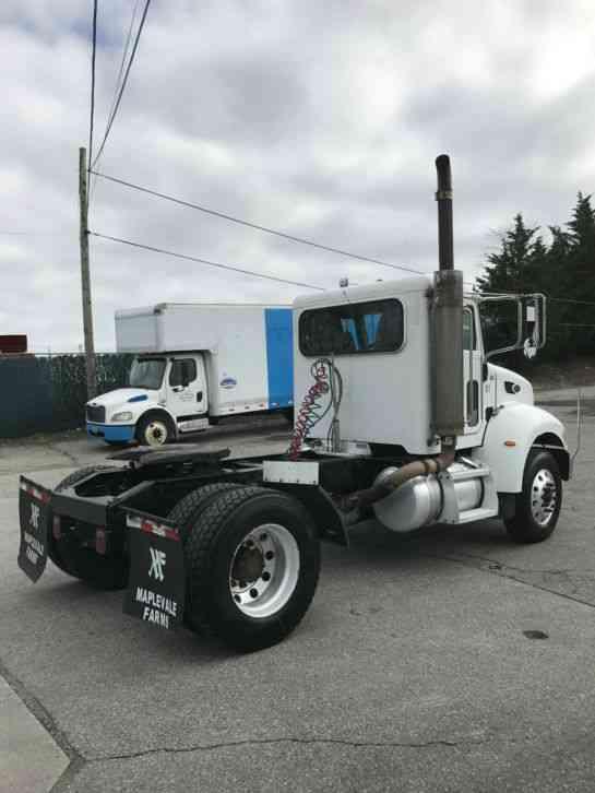 Single Axle Semi Tractors : Peterbilt  daycab semi trucks