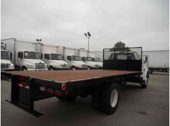 Used Gmc Trucks >> FORD F750 FLATBED TRUCK 20ft flatbed cummins auto 33, 000 ...