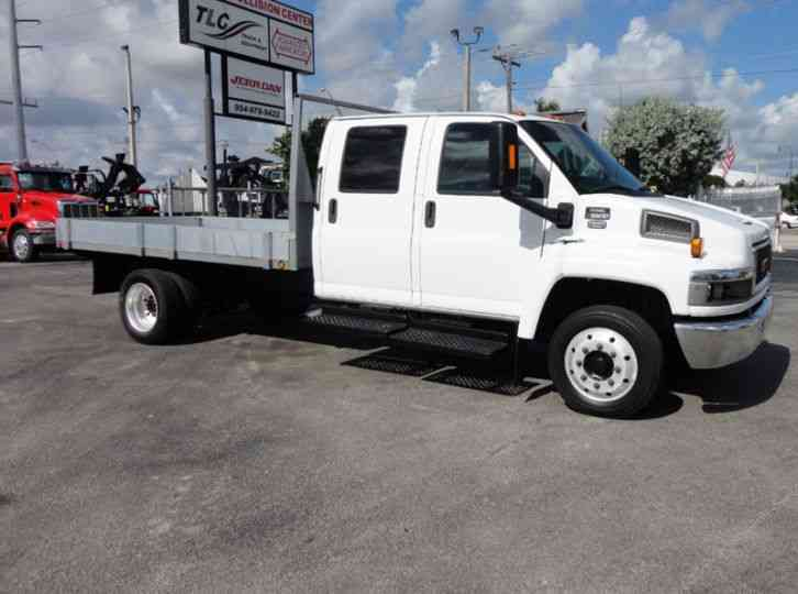 GMC C5500 CREW CAB. . 12FT STEEL FLATBED (2009)