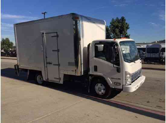 isuzu npr hd side door 14ft box truck with liftgate 2009 van box trucks. Black Bedroom Furniture Sets. Home Design Ideas
