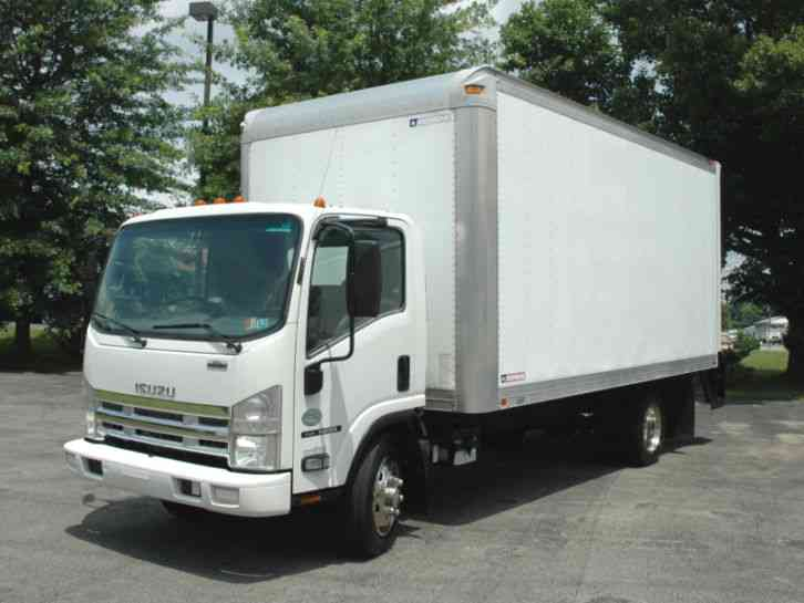 Isuzu Nrr Cab Over 18 Ft Diesel Lift 2009 Van Box