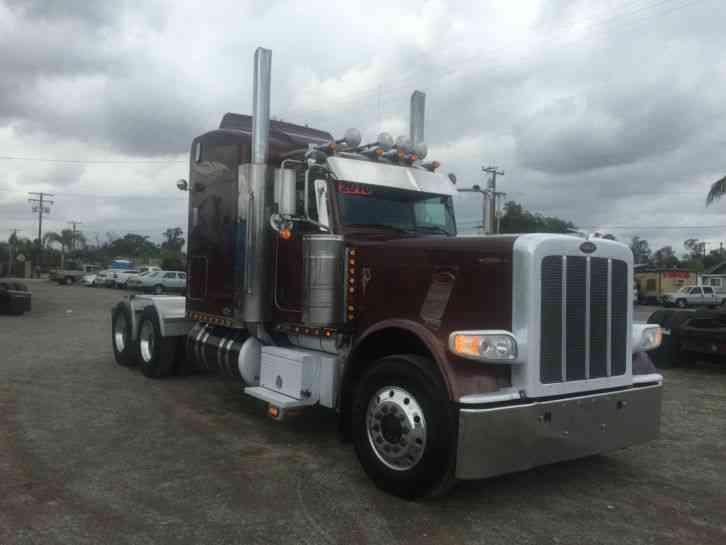 Semi Truck Hoods : Peterbilt ex hood sleeper semi trucks