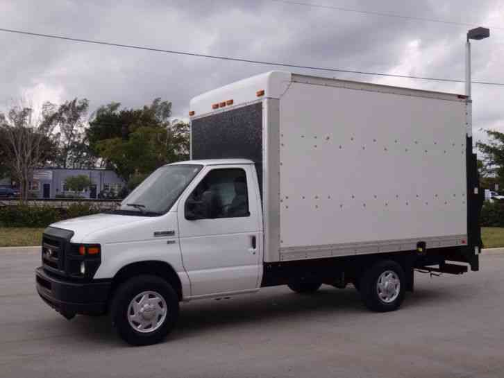 Ford E350 Econoline Commercial Cutaway 12ft Box Truck 2011 Van Box Trucks