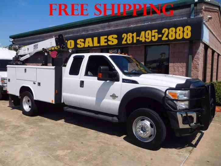 Ford F-450 Super Duty Utility Service Truck With Crane (2011)