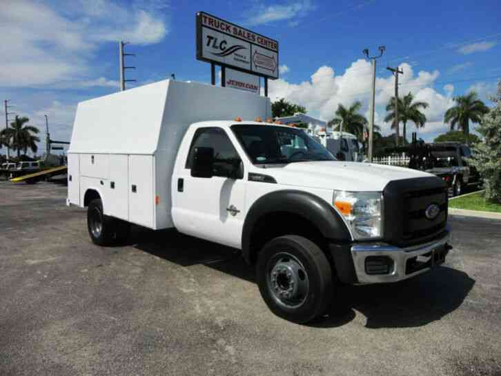 Ford F450 *6. 7L DIESEL*12FT ENCLOSED UTILITY SERVICE TRUCK (2011)