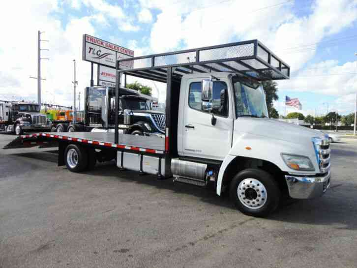 HINO 258ALP 22FT BEAVER TAIL, DOVE TAIL, RAMP TRUCK, EQUIPMENT (2011)