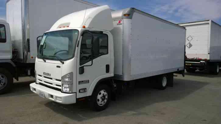 Isuzu Npr 16ft Box Truck W Liftgate Delivery Route 3 0l 4cyl Diesel Fuel Saver Power Win Locks 2011 Van Box Trucks
