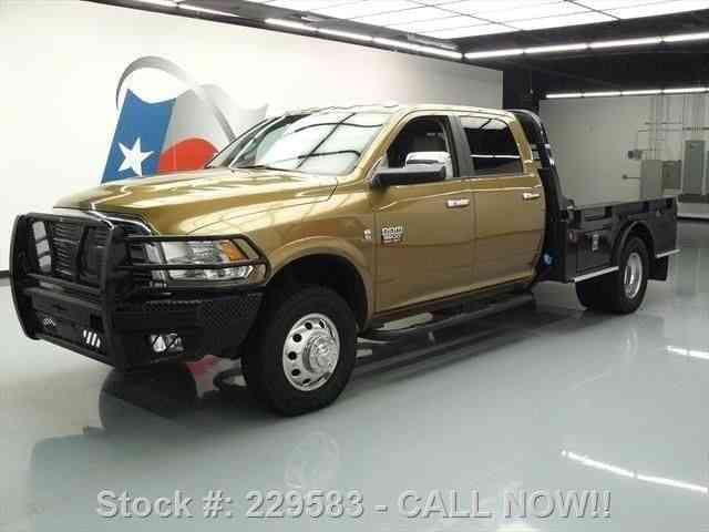 dodge ram 3500 laramie diesel 4x4 flatbed nav 59k 2012 commercial pickups. Black Bedroom Furniture Sets. Home Design Ideas