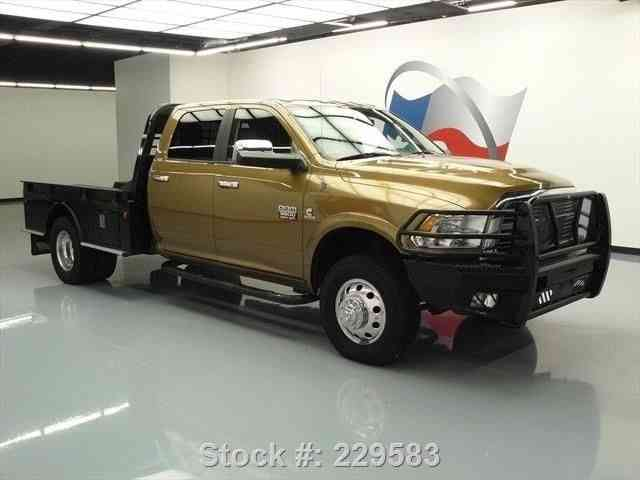 Dodge Ram Laramie Diesel X Flatbed Nav K Texas Direct Auto on Dodge Ram Van 3500