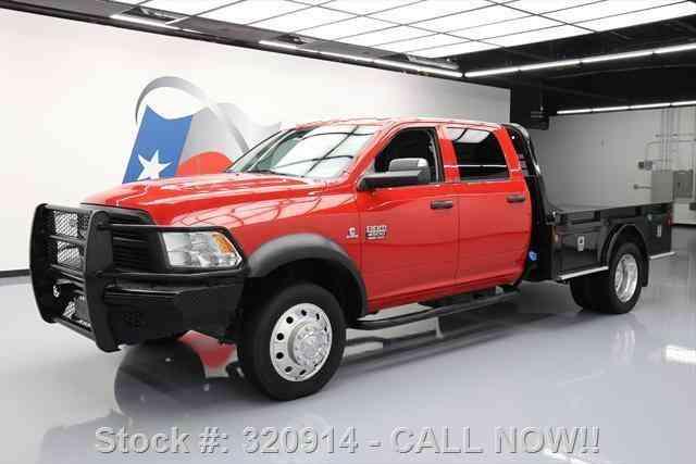 dodge ram 4500 crew 4x4 diesel dually flatbed 2012 commercial pickups. Black Bedroom Furniture Sets. Home Design Ideas