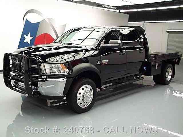 dodge ram 5500 crew 4x4 diesel dually flatbed  2012    commercial pickups