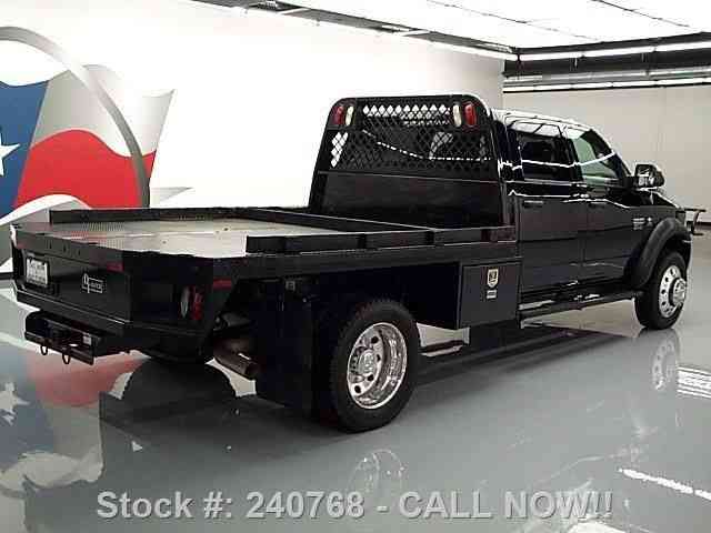 Dodge Ram 5500 Crew 4x4 Diesel Dually Flatbed 2012