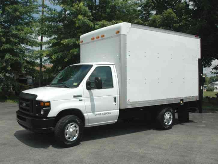 ford e350 12 5 ft service delivery box truck 2012 van box trucks. Black Bedroom Furniture Sets. Home Design Ideas