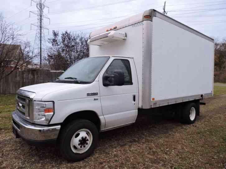 5a840a4a4e5908 FORD E350 VAN CUTAWAY REFRIGERATED BOX TRUCK 15FT 39K (2012)   Van ...
