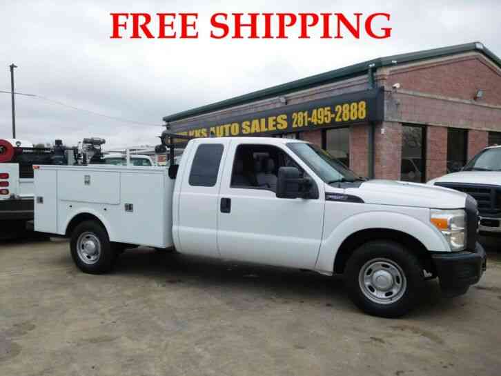 FORD F-250 XL SUPER DUTY UTILITY SERVICE TRUCK EXTENDED CAB LONG BED 6. 2L (2012)