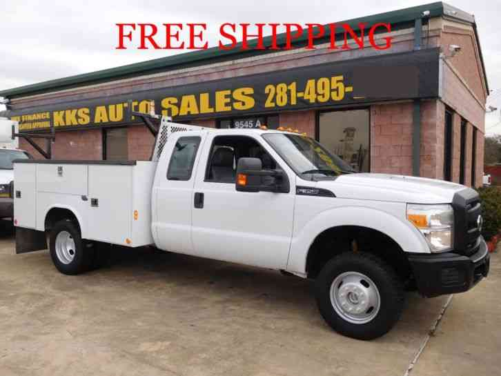 FORD F-350 SUPER DUTY 4WD UTILITY SERVICE TRUCK EXT CAB (2012)