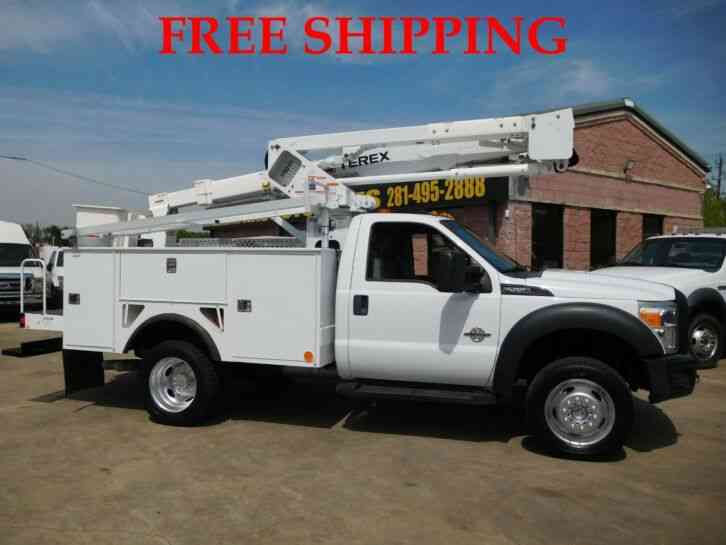 FORD F-550 XL 4WD SUPER DUTY UTILITY SERVICE WITH TEREX BUCKET/BOOM TRUCK 6. 7L TURBO DIESEL (2012)